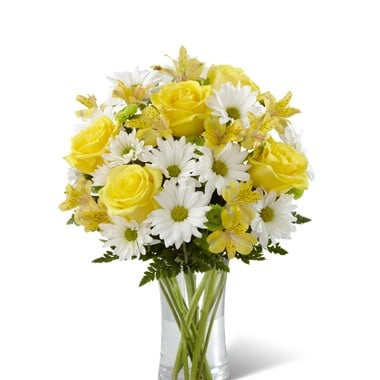 CHIL003 Yellow Rose Lily Bouquet (C3-4793)