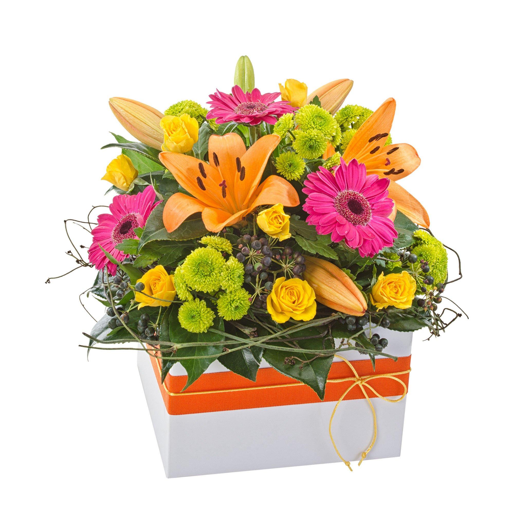VAN009 Orange Lily Gerbera Arrangement (721)